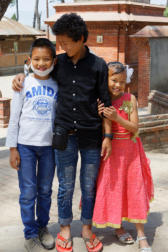 Sundar with his Brother and Sister